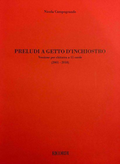 12 Preludi a getto di inchiostro - Nicola Cmpogrande per la Soñada (revisione e diteggiatura Christian Lavernier